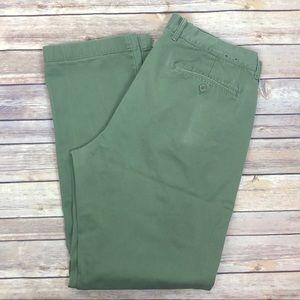 J.CREW The Sutton Green Cotton pants